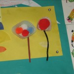 flower crafts with pom poms