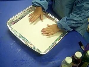 painting and shaving cream