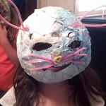 paper mache mask made out of bowl