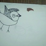 a bird drawn by child