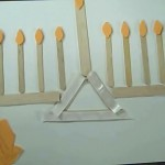 menorah with craft sticks