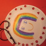 sewing on paper plates
