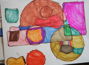 abstract design for kids drawing