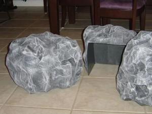 paper mache rocks