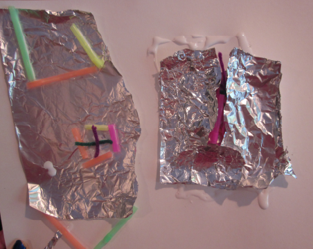 aluminum foil and straws from recipe
