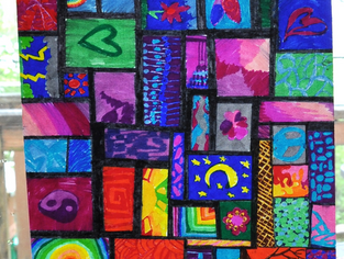 stained glass with sharpies