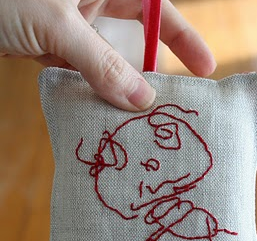 embroider on fabric