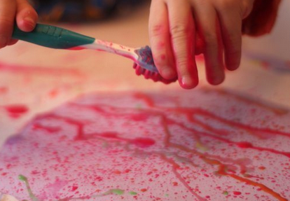 spatter painting on egg template