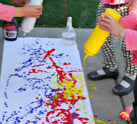 squirt bottle painting