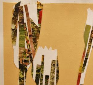 magazine paper collages