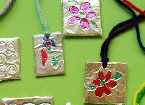 tin foil necklaces