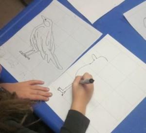 copying bird