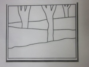 perspective lines with trees