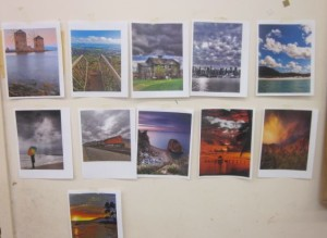 photogrphs of colored landscapes
