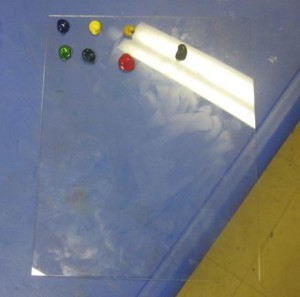 waterclors on palette