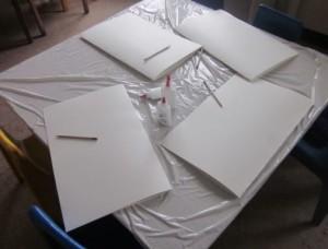 prepared oaktags for portfolios