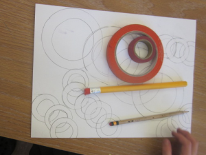 drawing overlapping circles
