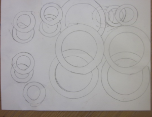 overlapping circles in pencil