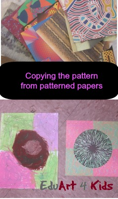 copying pattern from patterned papers