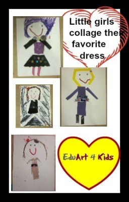 little girls collage their dress
