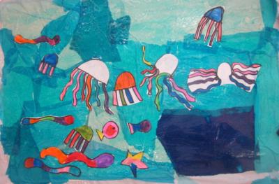colorful undersea scene