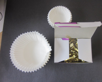 cupcake holders and paper fasteners