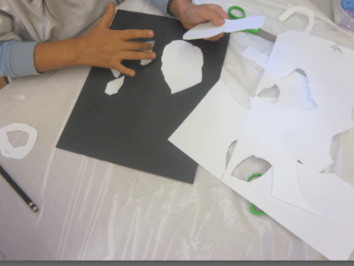 cutting organic shapes