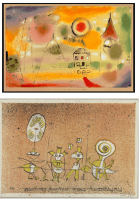 paul klee samples of line drawings