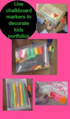 chalkboard marker portfolios