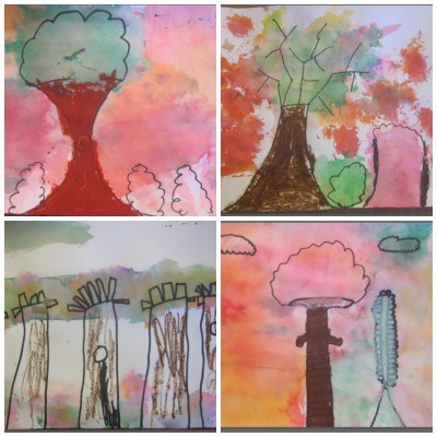first grade 4 collage
