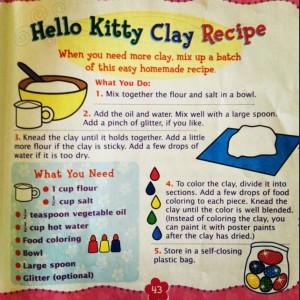 hello kitty recipe on how to make clay