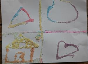 grated chalk art