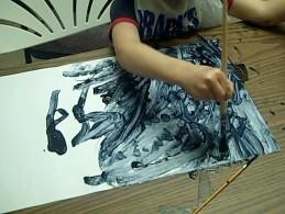 B&W mush of line painting