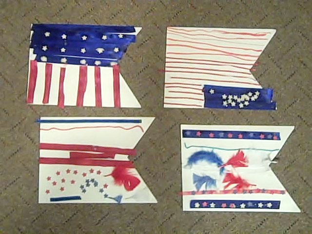 finishsed flags for july 4th
