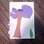 tree with leaves and rubbings