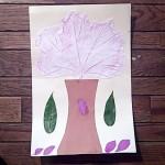 tree with leaf rubbing