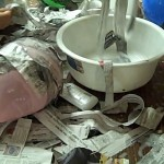paper mache with glue and water