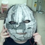 holes cut out for mask