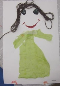 girl with dress collag