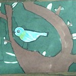 Bird in a tree drawing by child