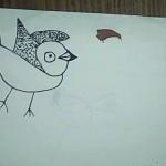 a bird drawn by child