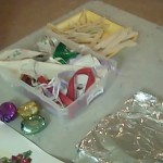 Materials display for hanukkah crafts for kids