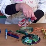 christmas crafts for children using cd's