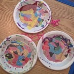 stained glass tissue paper with paper plates