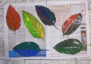 painted leaves