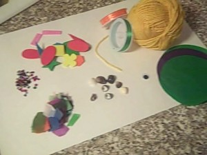 materials for egg puppets for easter crafts
