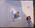 animal craft with a chicken