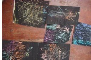 black scratch art