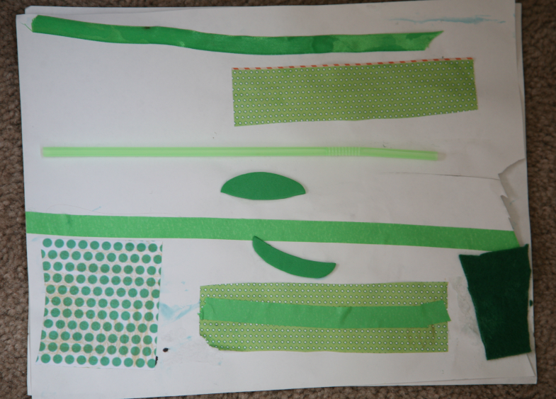 green collages for art activity for st patricks day