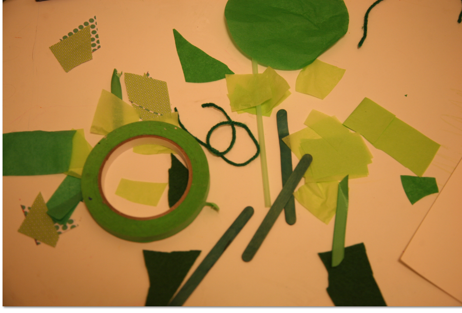 green collages for st patricks day art